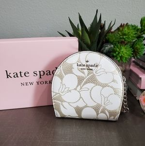 Kate Spade Larchmont Ave Floral coin key chain